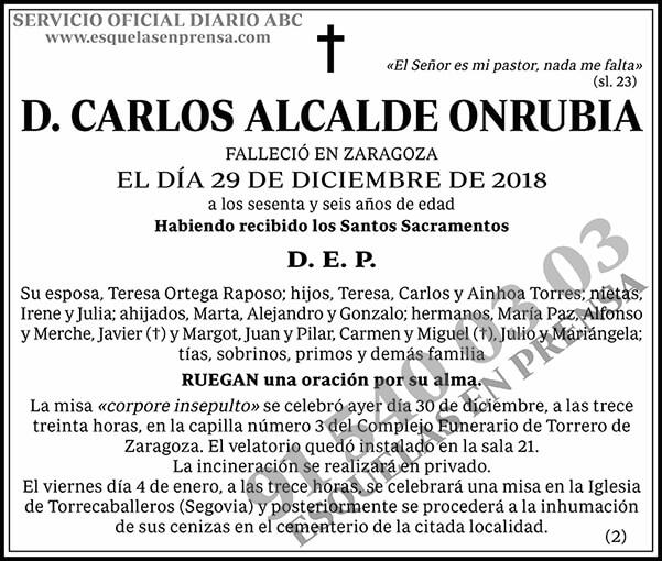 Carlos Alcalde Onrubia